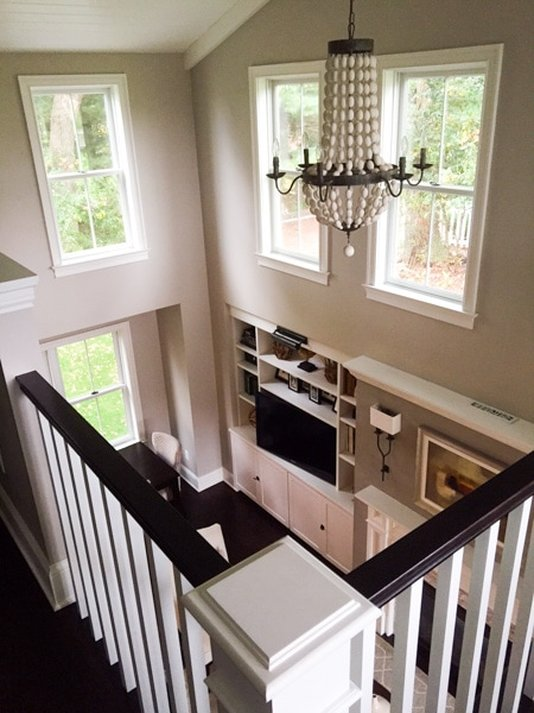 residential, stairway, addition, loft, farmhouse, built-ins